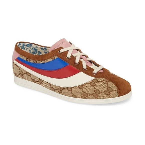 62cdf4fb Gucci Beige & Brown GG Falacer Sneakers